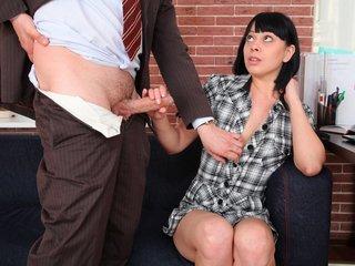 Sonia begins to show her teacher her..