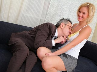 Lovely blonde babe Shelly is spending..
