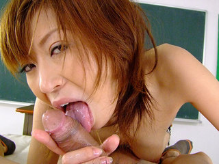 Thrilled Jun Kusanagi uses her hatch..